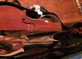 smashed instrument