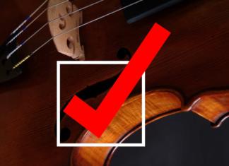 violin checklist
