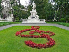 mozart monument in Vienna Austria