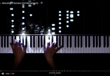 rosseau moonlight sonata visualization