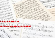 Orchestra Central's featured image of what is tenor clef article